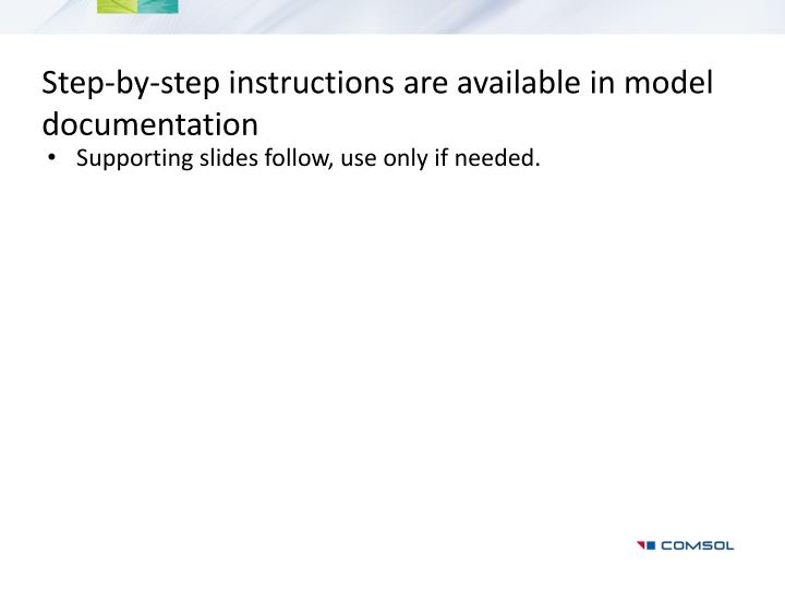 Step-by-step instructions are available in model documentation