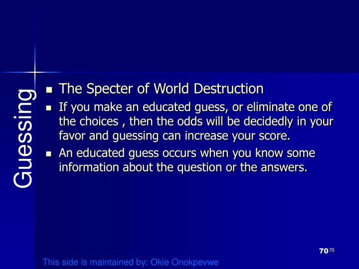 The Specter of World Destruction