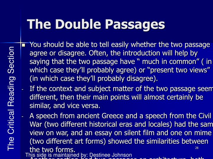 The Double Passages