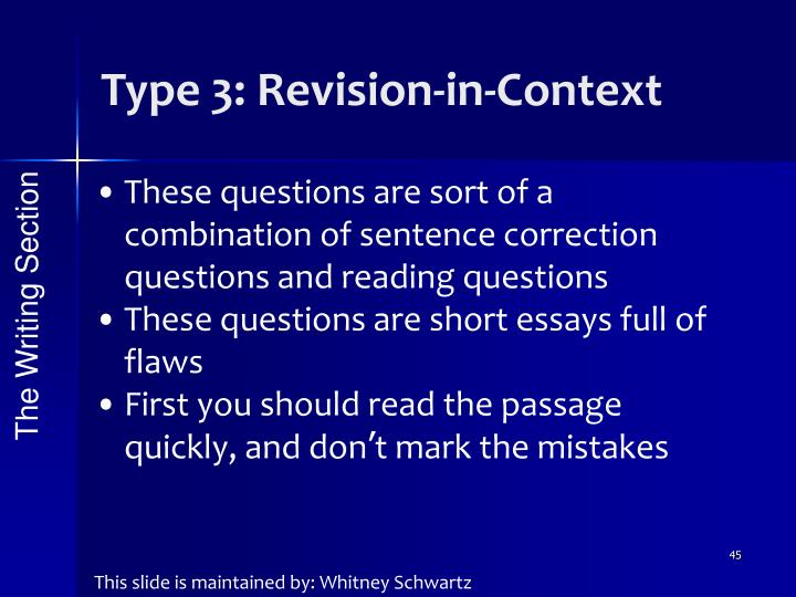 Type 3: Revision-in-Context