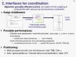 2 interfaces for coordination