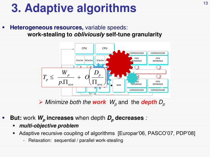 3. Adaptive algorithms