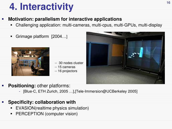 4. Interactivity