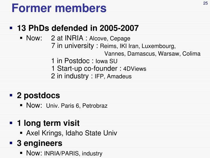Former members