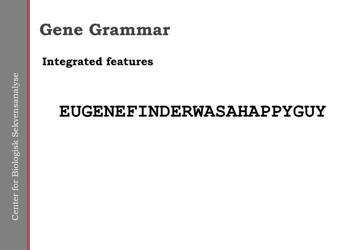 Gene Grammar
