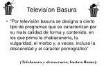televis on basura