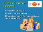 benefits of electronic commerce