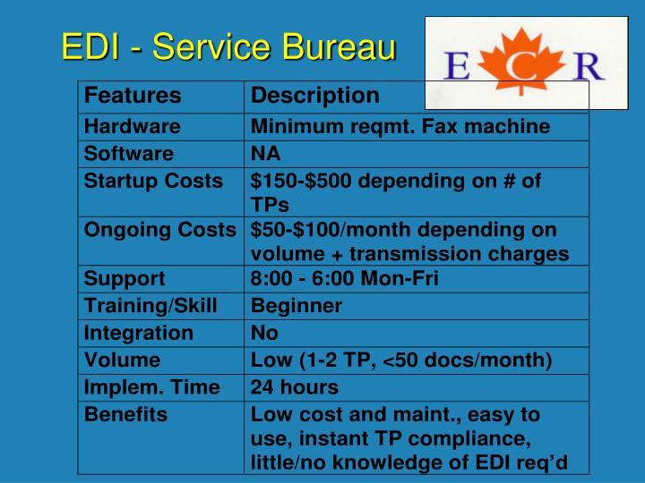 EDI - Service Bureau