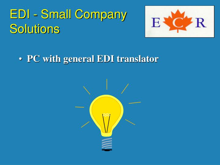 EDI - Small Company Solutions