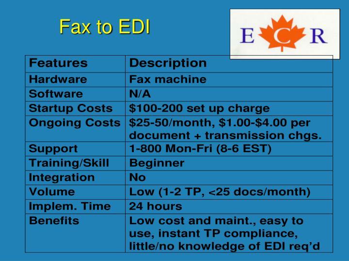 Fax to EDI
