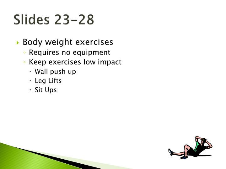 Slides 23-28