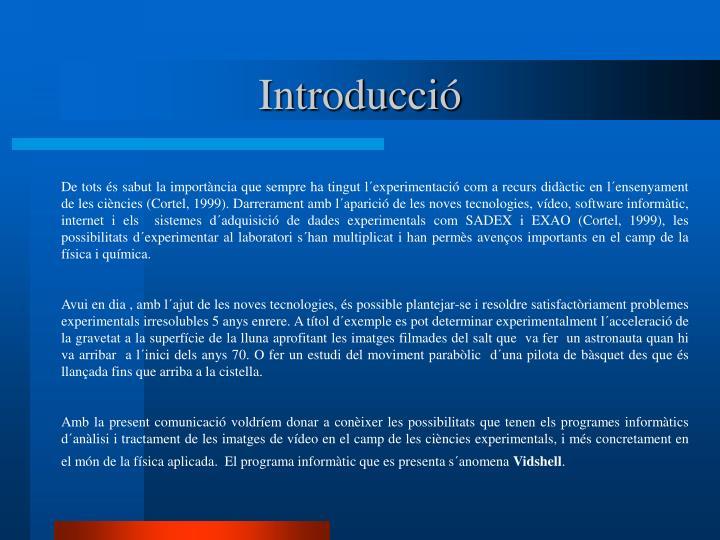 Introducció