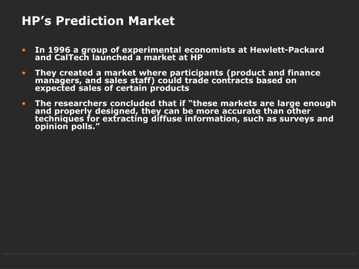 HP's Prediction Market