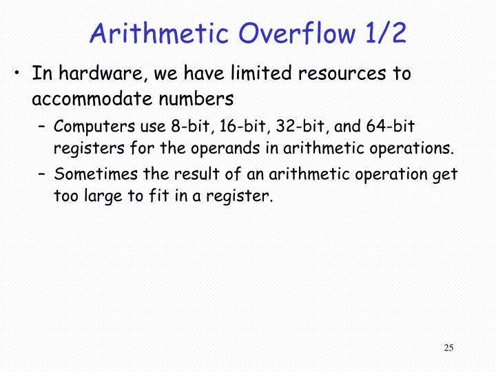 Arithmetic Overflow 1/2