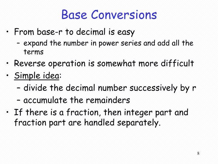 Base Conversions