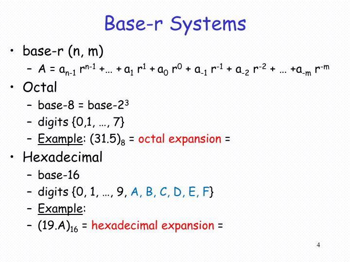 Base-r Systems