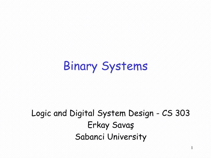 Binary systems
