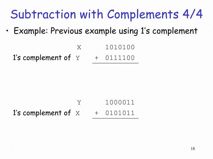 Subtraction with Complements 4/4