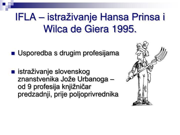 IFLA – istraživanje Hansa Prinsa i Wilca de Giera 1995.