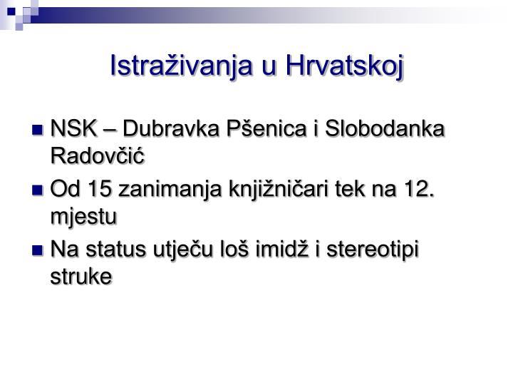 Istraživanja u Hrvatskoj