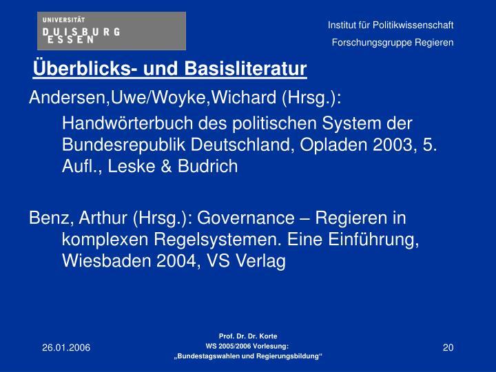 Andersen,Uwe/Woyke,Wichard (Hrsg.):