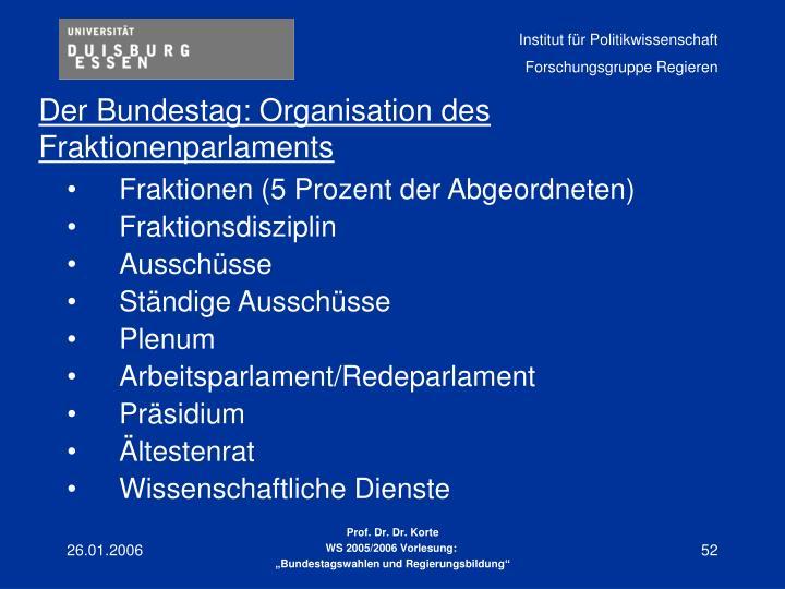 Fraktionen (5 Prozent der Abgeordneten)