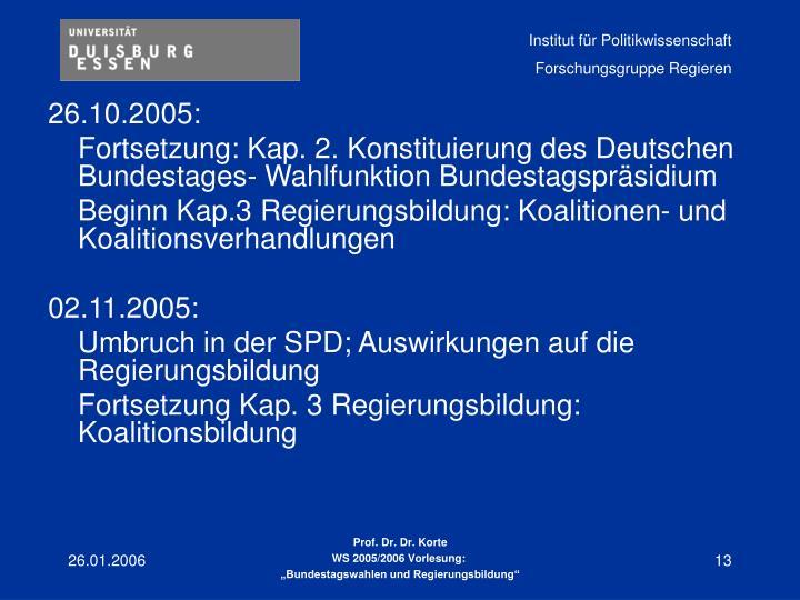 26.10.2005: