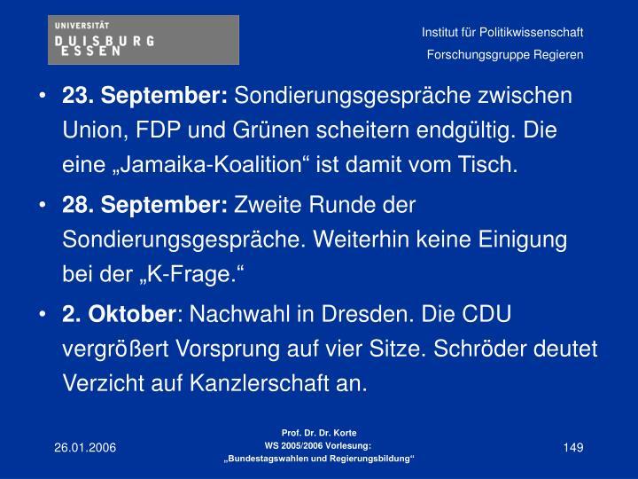 23. September: