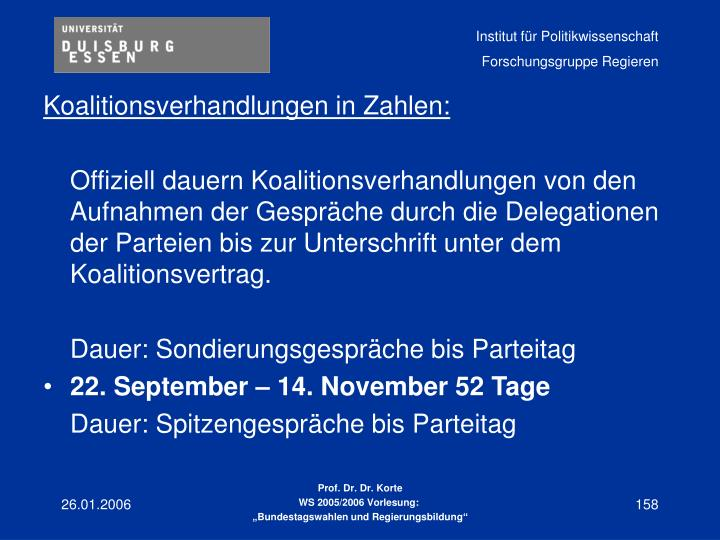 Koalitionsverhandlungen in Zahlen: