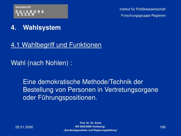 Wahlsystem
