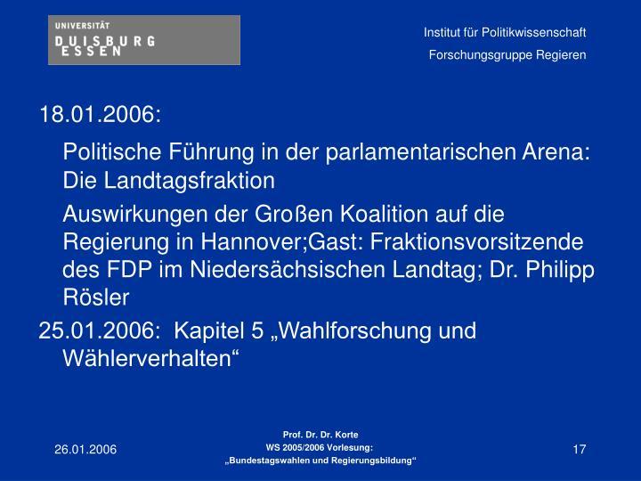 18.01.2006: