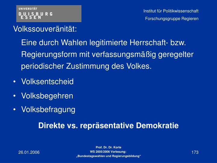 Volkssouveränität: