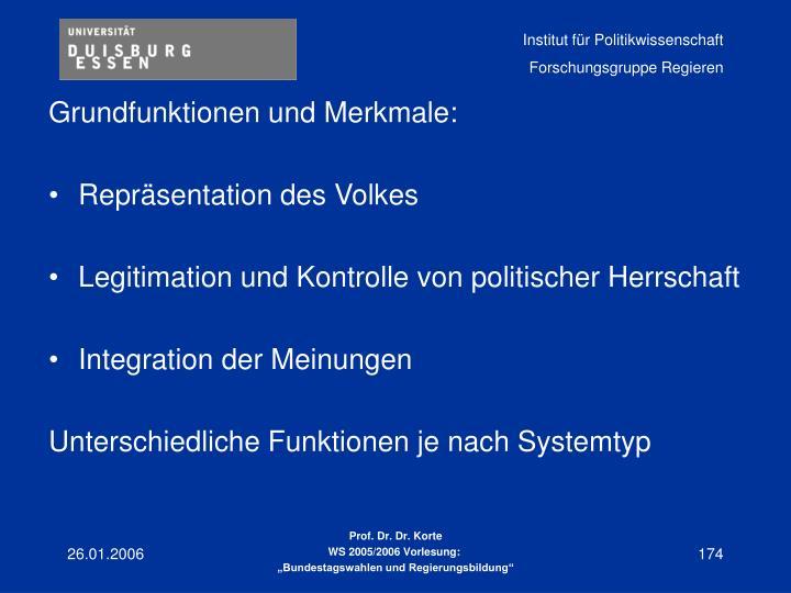 Grundfunktionen und Merkmale: