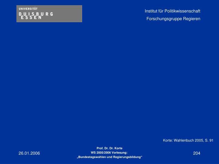 Korte: Wahlenbuch 2005, S. 91