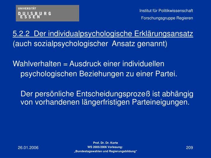 5.2.2Der individualpsychologische Erklärungsansatz