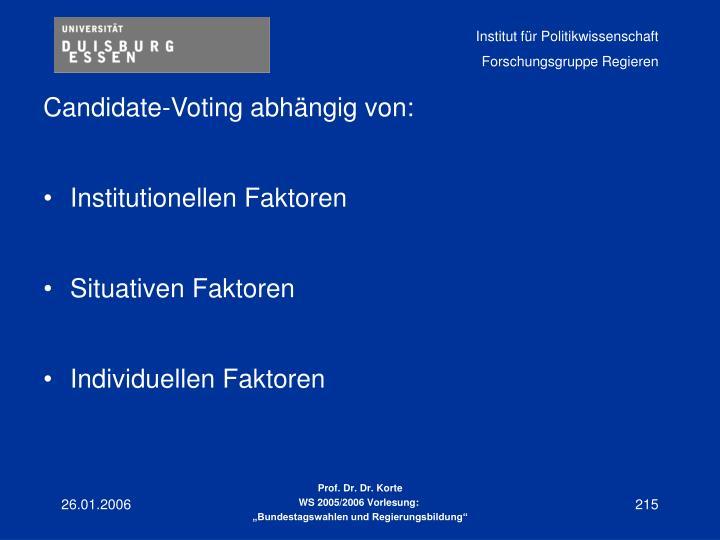 Candidate-Voting abhängig von: