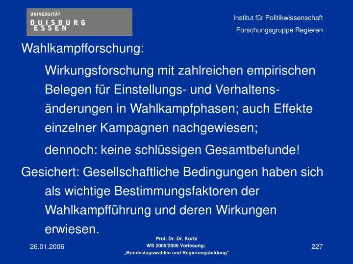 Wahlkampfforschung: