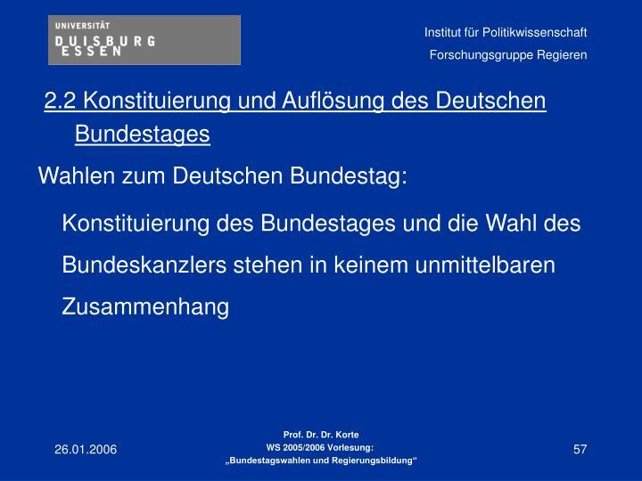 2.2 Konstituierung und Auflösung des Deutschen