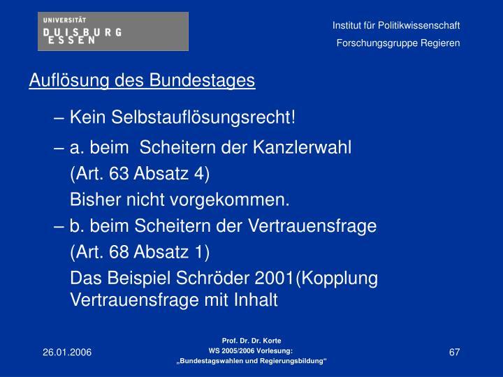 Auflösung des Bundestages