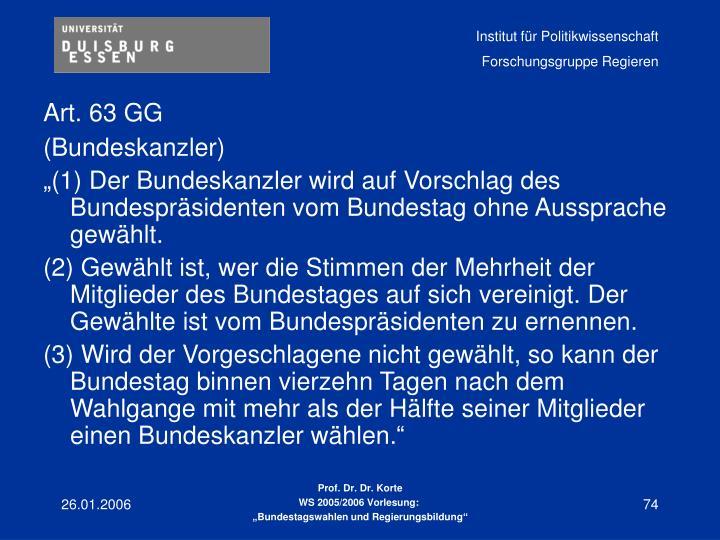 Art. 63 GG
