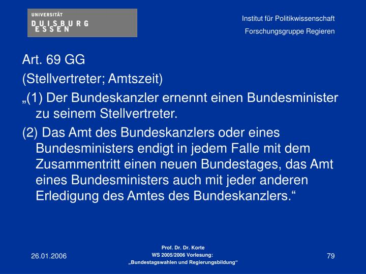 Art. 69 GG