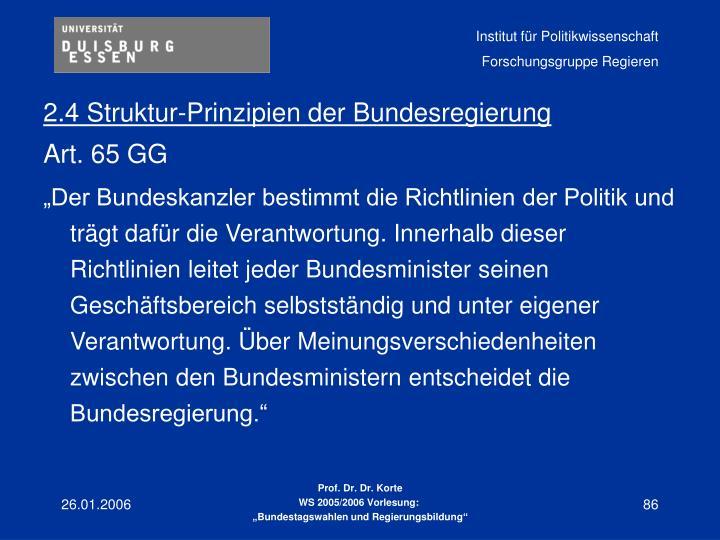 2.4 Struktur-Prinzipien der Bundesregierung