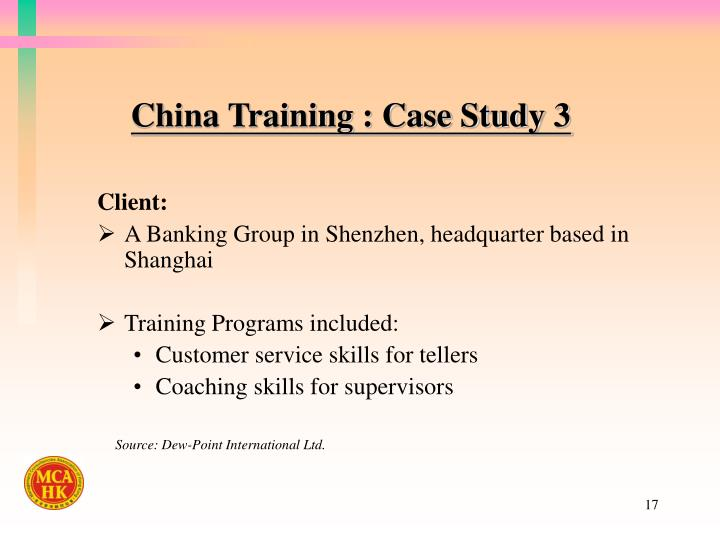 China Training : Case Study 3