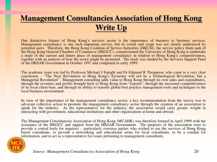 Management Consultancies Association of Hong Kong