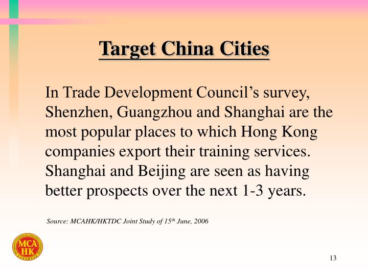 Target China Cities
