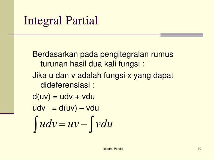 Integral Partial