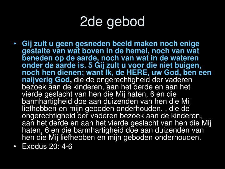 2de gebod
