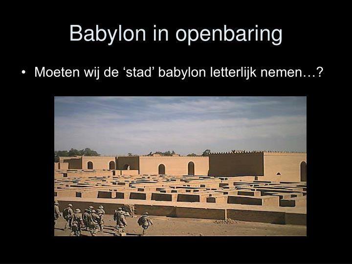Babylon in openbaring