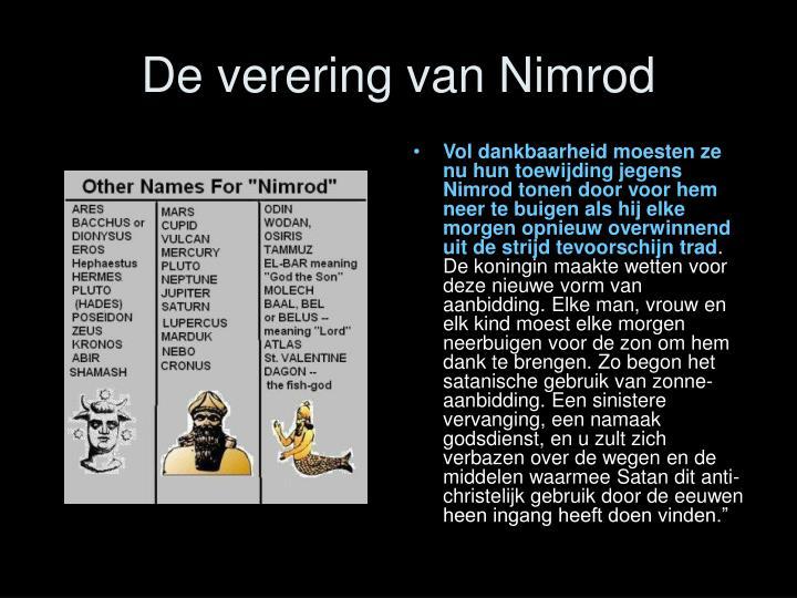 De verering van Nimrod