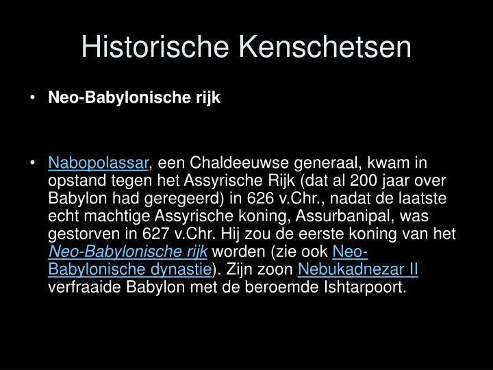 Historische Kenschetsen
